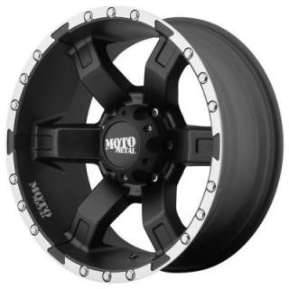 MOTO METAL WHEELS  MO967 SATIN BLACK RIM with MACHINED FLANGE
