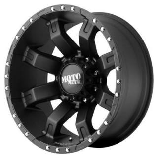 MOTO METAL WHEELS  MO968 SATIN BLACK RIM with CLEAR COAT