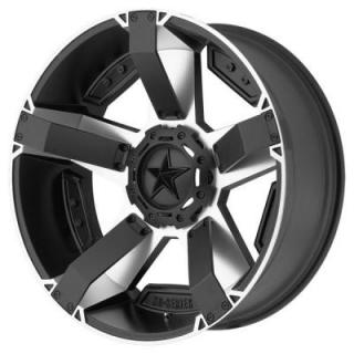 XD811 ROCKSTAR II MACHINED FACE RIM with SATIN BLACK WINDOWS from XD SERIES WHEELS