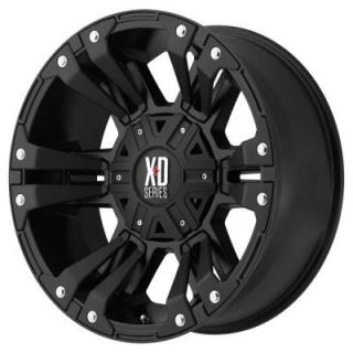 XD SERIES WHEELS  XD822 MONSTER II SATIN BLACK RIM with SATIN BLACK ACCENTS