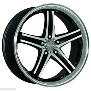 SPEEDY WHEELS  SABRE GLOSS BLACK RIM with MACHINED LIP