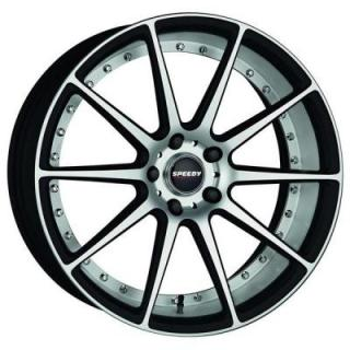 SPEEDY WHEELS  TRACK MATTE BLACK RIM with MACHINED ACCENTS