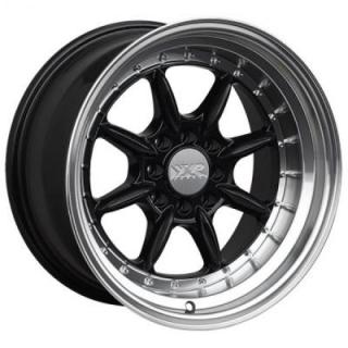 XXR WHEELS  002.5 BLACK RIM with MACHINED LIP