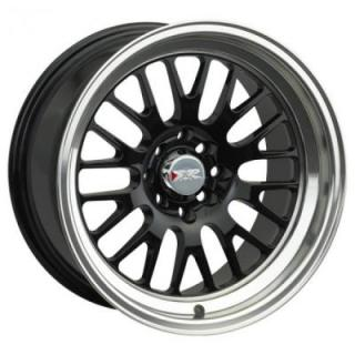 XXR WHEELS  531 BLACK RIM with MACHINED LIP