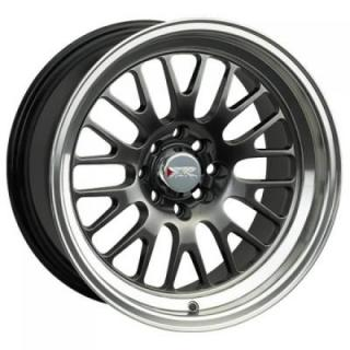 XXR WHEELS  531 CHROMIUM BLACK RIM with MACHINED LIP