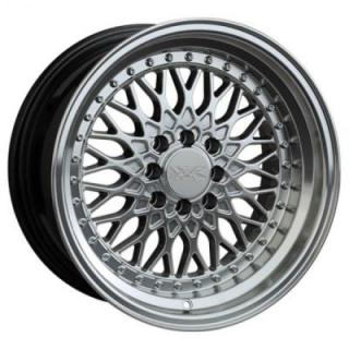 536 HYPER SILVER RIM with MACHINED LIP by XXR WHEELS