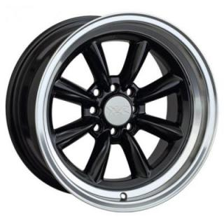 XXR WHEELS  537 BLACK RIM with MACHINED LIP