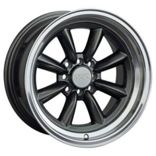 XXR WHEELS  537 GUNMETAL RIM with MACHINED LIP
