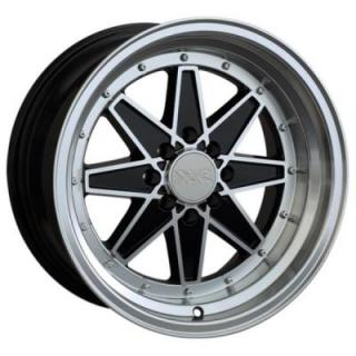 XXR WHEELS  538 BLACK RIM with MACHINED LIP