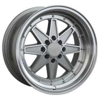 XXR WHEELS  538 SILVER RIM with MACHINED LIP