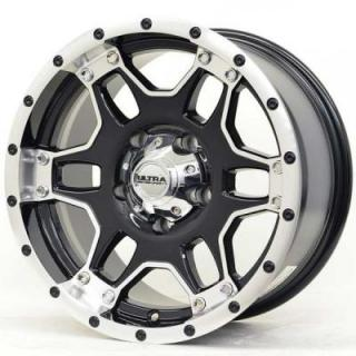 ULTRA WHEELS   MONGOOSE 178 GLOSS BLACK RIM with DIAMOND CUT ACCENTS