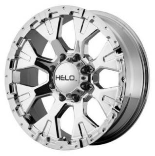 SPECIAL BUY WHEELS  HELO HE878 CHROME RIM PPT DISPLAY SET 1 SET ONLY
