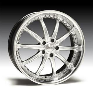 SPECIAL BUY WHEELS  VERSUS VENDETTA HYPER SILVER RIM with DIAMOND LIP