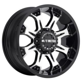 METAL MM-164M PIANO BLACK RIM with MACHINED FACE by MICKEY THOMPSON WHEELS
