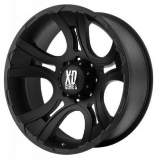 SPECIAL BUY WHEELS  XD SERIES XD801 CRANK MATTE BLACK RIM PPT DISPLAY SET 1 SET ONLY