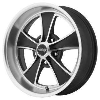 AMERICAN RACING WHEELS  VN807 SATIN BLACK MACHINED RIM