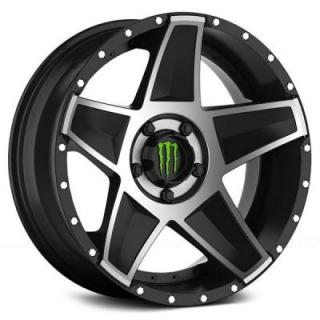 SPECIAL BUY WHEELS  DROPSTARS MONSTER ENERGY 648MB BLACK RIM with MIRROR MACHINED FACE