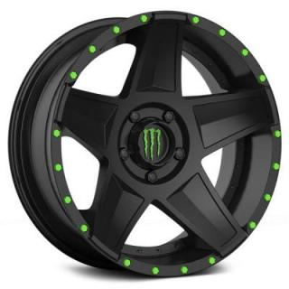 SPECIAL BUY WHEELS  DROPSTARS MONSTER ENERGY 648B SATIN BLACK RIM