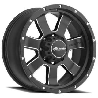 INERTIA SERIES 5139 SATIN BLACK RIM with MILLING by PRO COMP ALLOYS WHEELS