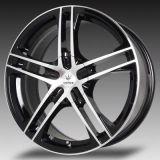 SPECIAL BUY WHEELS  VERDE PROTOCOL GLOSS BLACK RIM with MACHINED FACE and LIP DISPLAY SET 1 SET ONLY