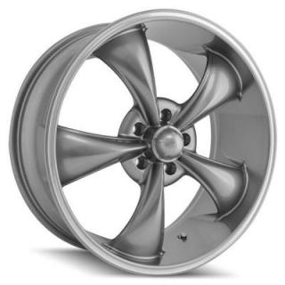 RIDLER WHEELS  STYLE 695 GREY RIM with MACHINED RING