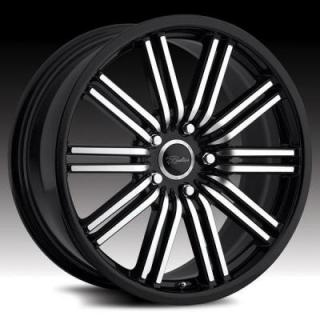SPECIAL BUY WHEELS  RACELINE 199 BREMTECH BLACK RIM PPT