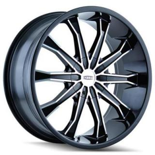 DIP WHEELS  MORTAR D99 BLACK RIM with MACHINED FACE