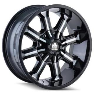 MAYHEM WHEELS  BEAST BLACK RIM with MILLED SPOKES