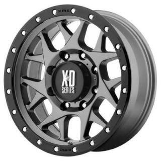 XD SERIES WHEELS  XD127 BULLY MATTE GRAY RIM with BLACK RING