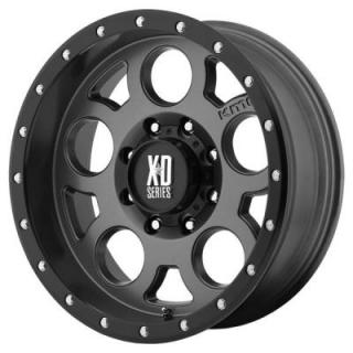 XD SERIES WHEELS  XD126 ENDURO PRO MATTE GRAY RIM with BLACK RING