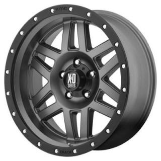 XD SERIES WHEELS  XD128 MACHETE MATTE GRAY RIM with BLACK RING