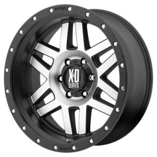 XD SERIES WHEELS  XD128 MACHETE SATIN BLACK RIM with MACHINED FACE