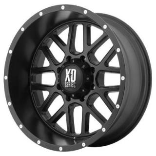 XD SERIES WHEELS  XD820 GRENADE SATIN BLACK RIM