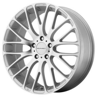 KM693 MAZE SILVER RIM with MACHINED FACE by KMC WHEELS