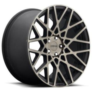 ROTIFORM CAST COLLECTION  BLQ R111 BLACK MACHINED DDT RIM
