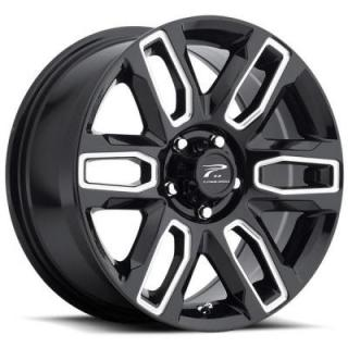 PLATINUM WHEELS  ALLURE 252 GLOSS BLACK RIM with MILLED ACCENTS
