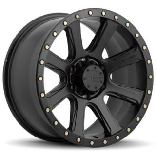 M16 MATTE BLACK RIM with BOLTS by MAMBA OFFROAD WHEELS