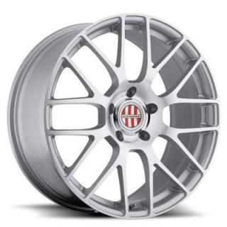 SPECIAL BUY WHEELS  VICTOR EQUIPMENT INNSBRUCK SILVER RIM with MIRROR CUT FACE PPT DISPLAY SET 1 SET ONLY