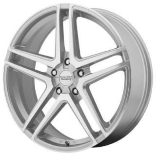AMERICAN RACING WHEELS  AR907 SILVER RIM with MACHINED FACE