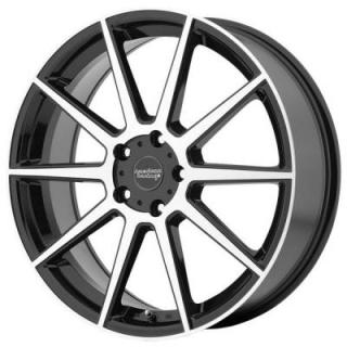 AMERICAN RACING WHEELS  AR908 GLOSS BLACK RIM with MACHINED FACE