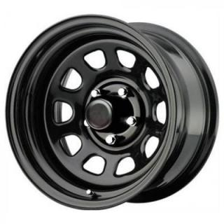 SPECIAL BUY WHEELS  PRO COMP STEEL SERIES 51 GLOSS BLACK RIM  PPT DISPLAY SET 1 SET ONLY