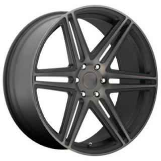 SKILLZ S123 BLACK RIM with MACHINED FACE DDT by DUB WHEELS