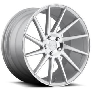 NICHE WHEELS  SURGE M112 SILVER MACHINED RIM