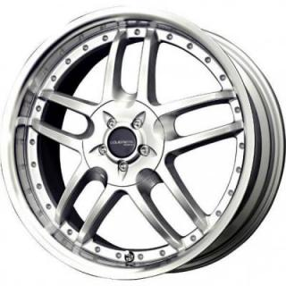 SPECIAL BUY WHEELS  LIQUID METAL CORE SILVER RIM with MACHINED LIP PPT DISPLAY SET 1 SET ONLY