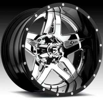FUEL TWO-PIECE SERIES  FULL BLOWN D253 PVD and GLOSS BLACK RIM