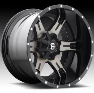 FUEL TWO-PIECE SERIES  DRILLER D257 MATTE and GLOSS BLACK MACHINED DDT RIM