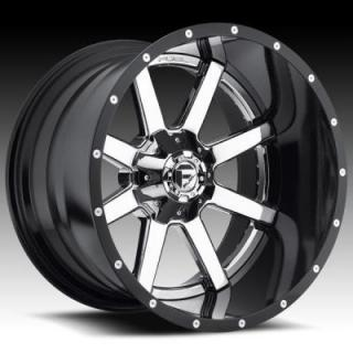 FUEL TWO-PIECE SERIES  MAVERICK D260 CHROME and GLOSS BLACK RIM