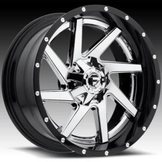 FUEL TWO-PIECE SERIES  RENEGADE D263 CHROME and GLOSS BLACK RIM