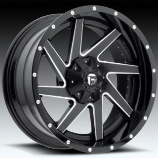 RENEGADE D265 MATTE and GLOSS BLACK RIM with MILLED ACCENTS by FUEL TWO-PIECE SERIES