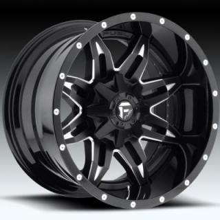 LETHAL D267 GLOSS BLACK RIM with MILLED ACCENTS by FUEL TWO-PIECE SERIES